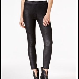 Free people black faux leather leggings